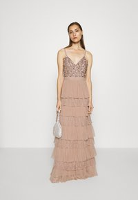 Maya Deluxe - CAMI TIERED MAXI DRESS WITH DETAIL - Occasion wear - taupe blush - 1