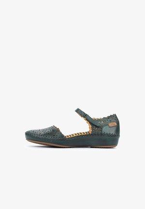 VALLARTA - Ankle strap ballet pumps - emerald
