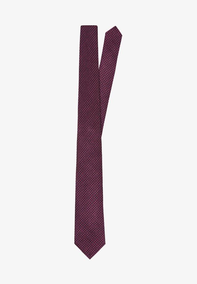 SLIM MINI DOGTOOTH  - Tie - burgundy