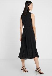 DKNY - KEYHOLE NECK MIDI WITH SELF BELT - Day dress - black - 2