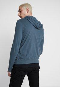 AllSaints - BRACE HOODY - Zip-up hoodie - pier blue - 2