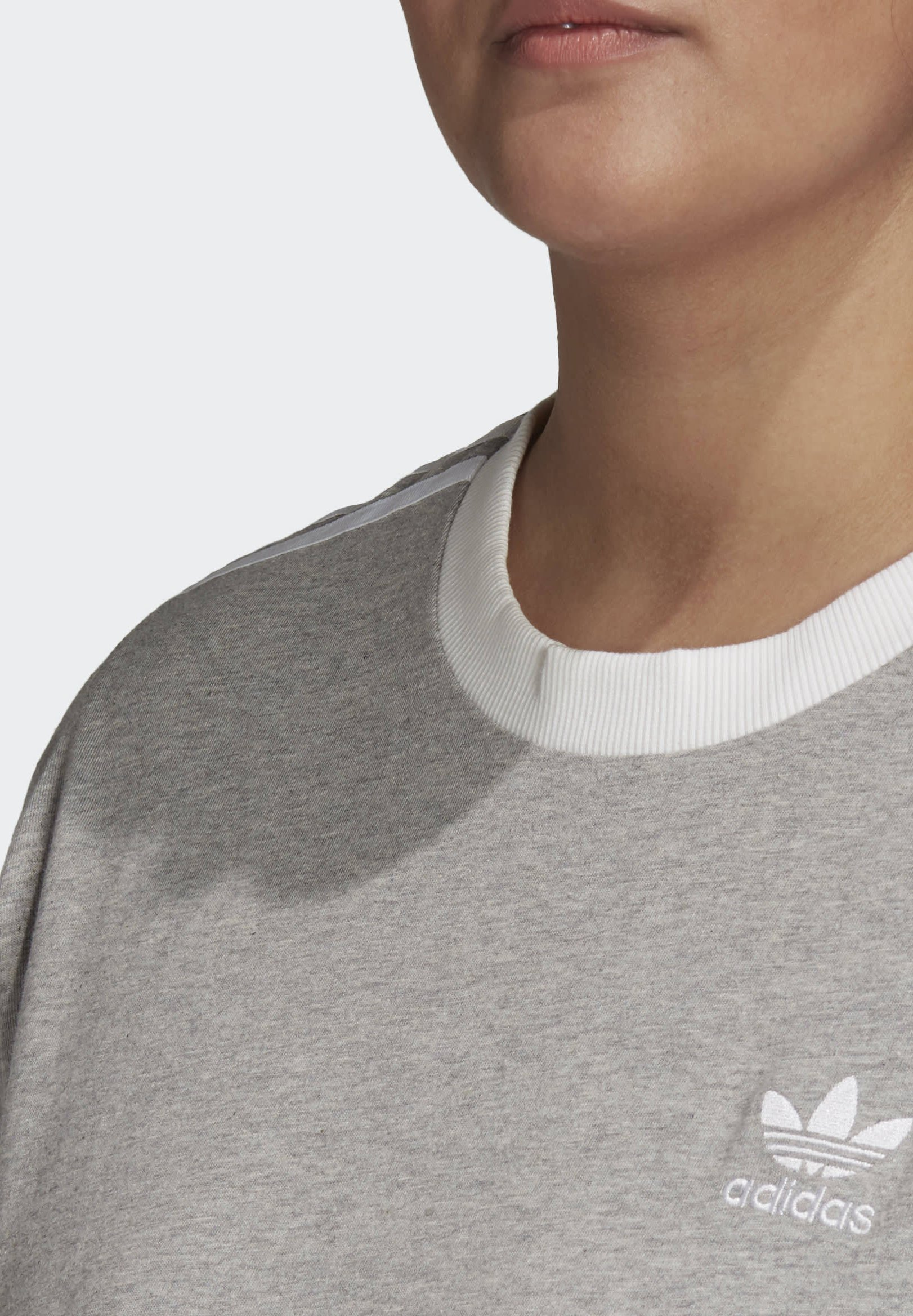 adidas Originals 3-STRIPES T-SHIRT (PLUS SIZE) - Print T-shirt - grey gOWFH