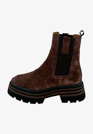 Ankle boots - caoba