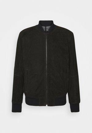 MELTON - Leather jacket - black