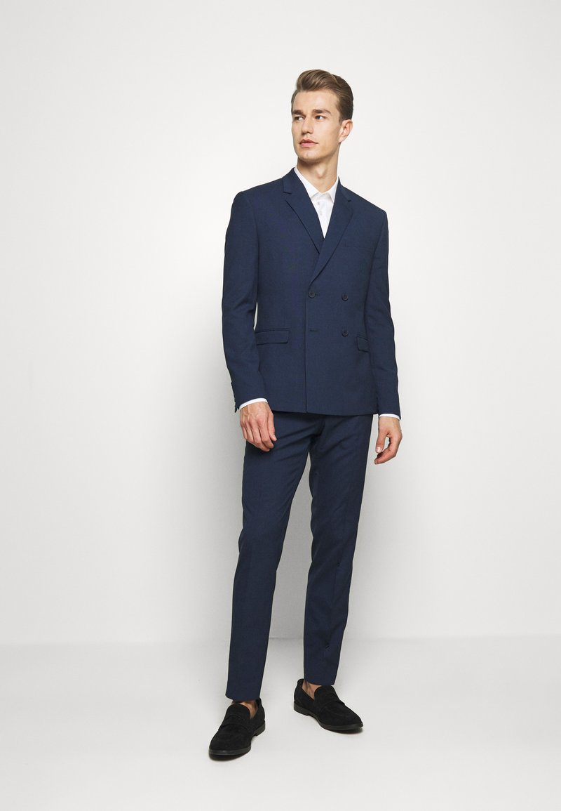 Isaac Dewhirst - CHECK SUIT DOUBLE BREASTED - Garnitur - dark blue
