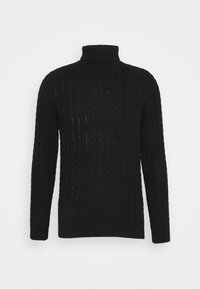 Selected Homme - SLHJOE CABLE ROLL NECK - Sweter - black - 4