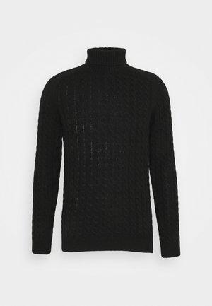 SLHJOE CABLE ROLL NECK - Jersey de punto - black