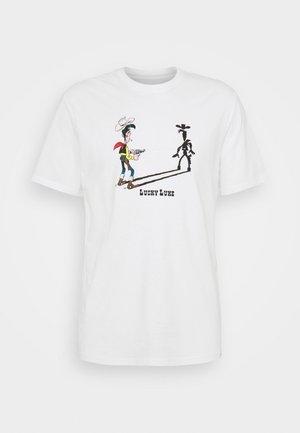 ONSLUCKY LUKE LIFE REG TEE  - T-shirt imprimé - star white