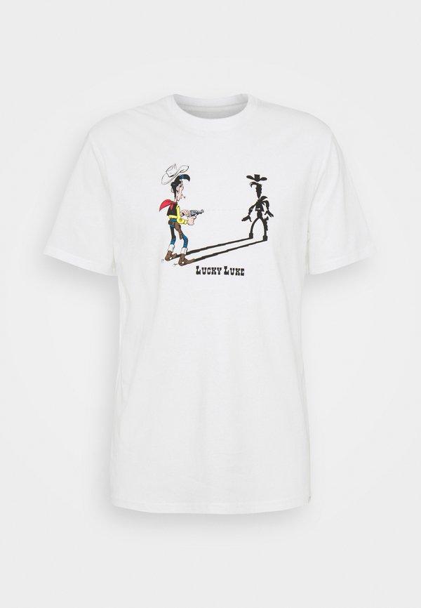 Only & Sons ONSLUCKY LUKE LIFE REG TEE - T-shirt z nadrukiem - star white/biały Odzież Męska ATSS