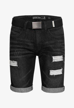 CUBA CADEN - Jeansshorts - black