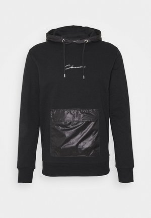 CONTRAST UTILITY HOODY - Jersey con capucha - black