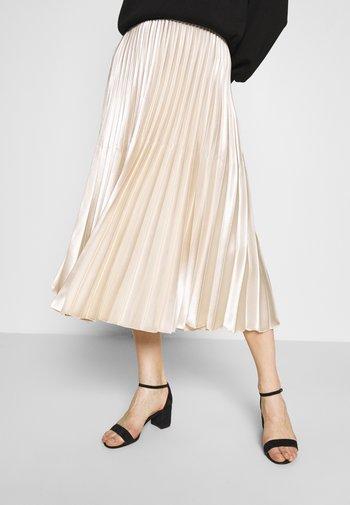 ONTI SHINE - Pleated skirt - ivory