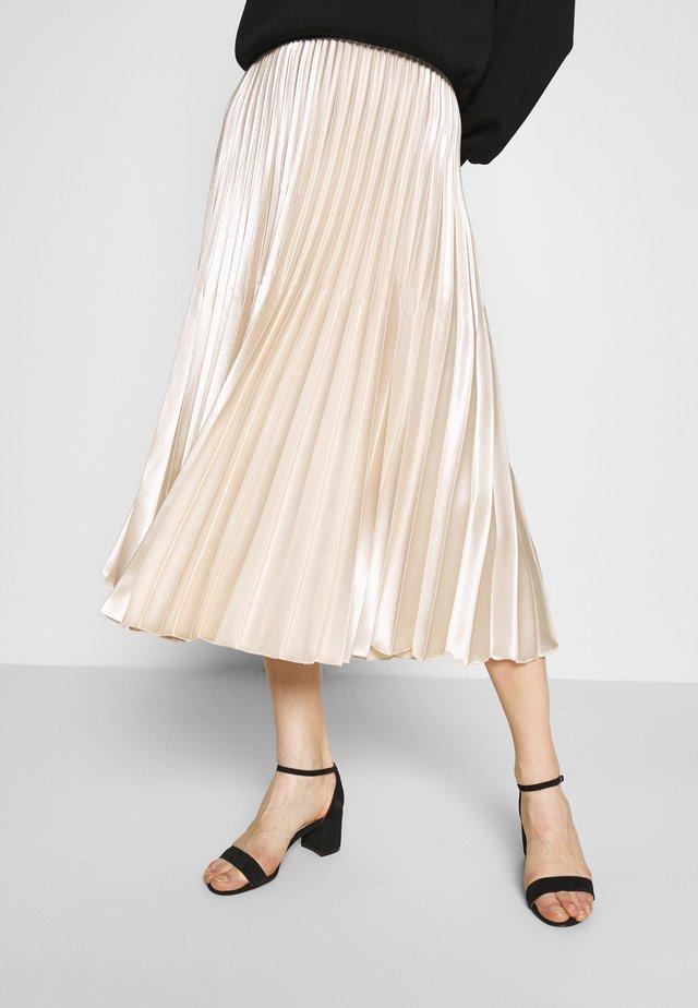 ONTI SHINE - Plisovaná sukně - ivory