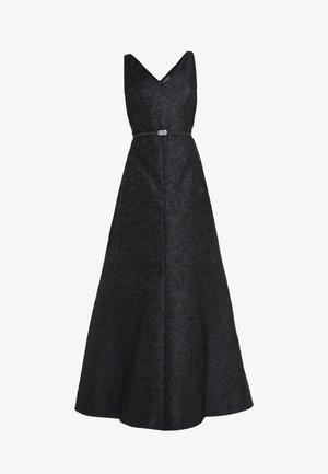 FLORAL LONG GOWN TRIM - Suknia balowa - black