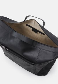 Zign - LEATHER UNISEX - Weekend bag - black - 2