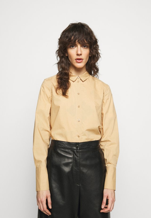 CALANI - Button-down blouse - tan