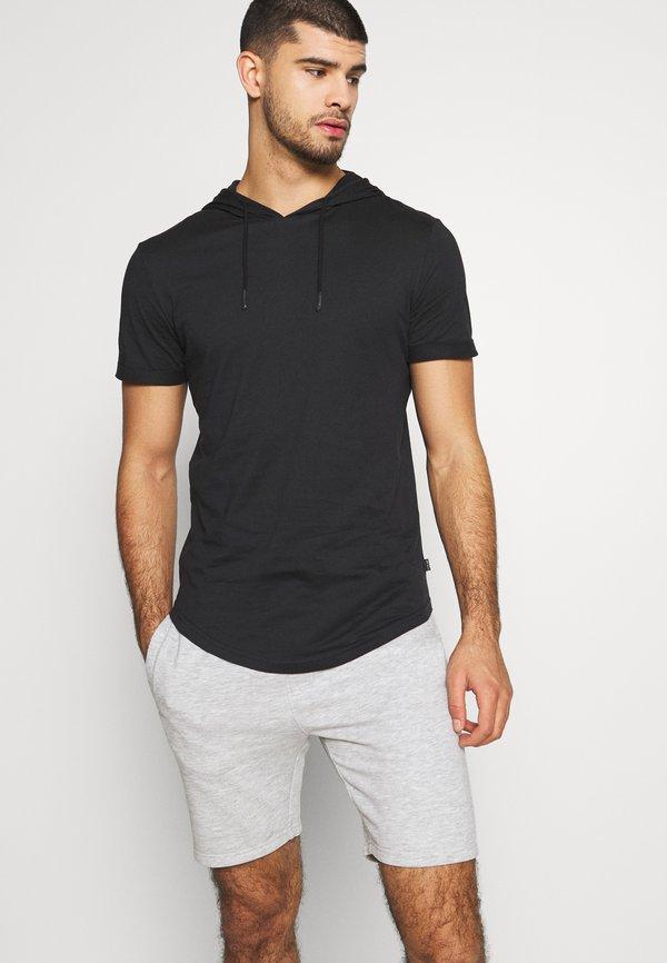 Pier One T-shirt z nadrukiem - black/czarny Odzież Męska QOOS