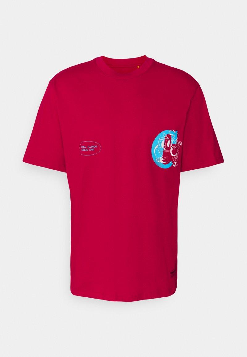 Caterpillar - VINTAGE PRINT TEE - T-shirt med print - red