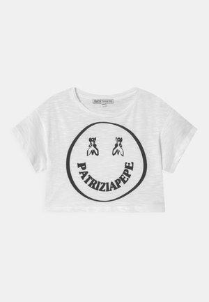 LET'S SMILE - T-shirt print - white