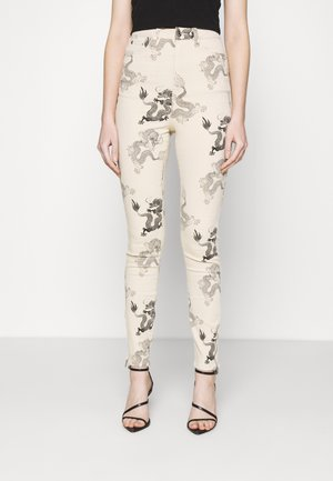 DRAGON PRINT SPLIT SINNER  - Jeans Skinny Fit - beige