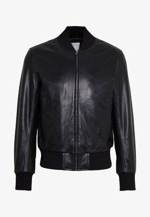 MONACO CUIR - Leather jacket - noir