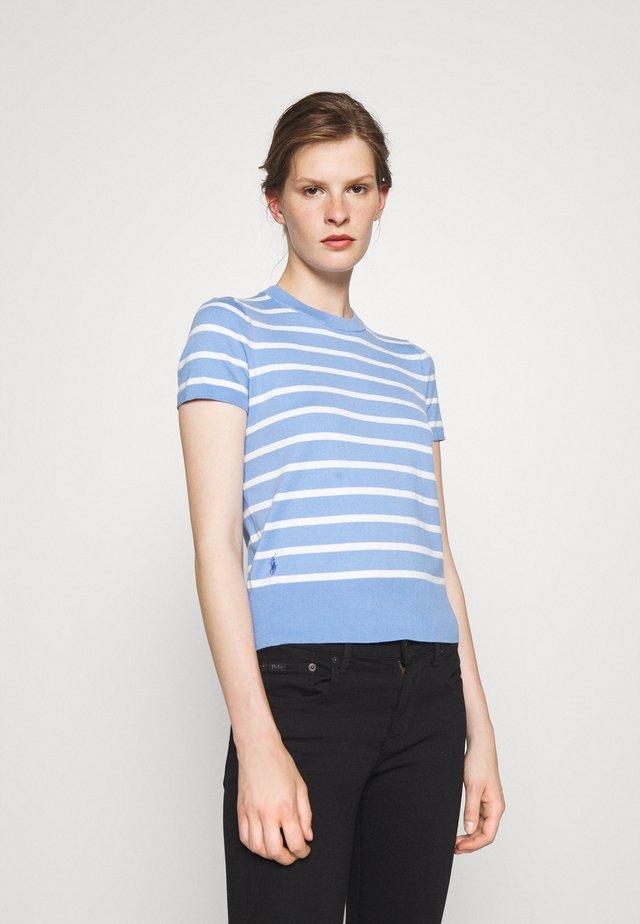 STRIPE SHORT SLEEVE - Print T-shirt - litchfield blue/collection cream