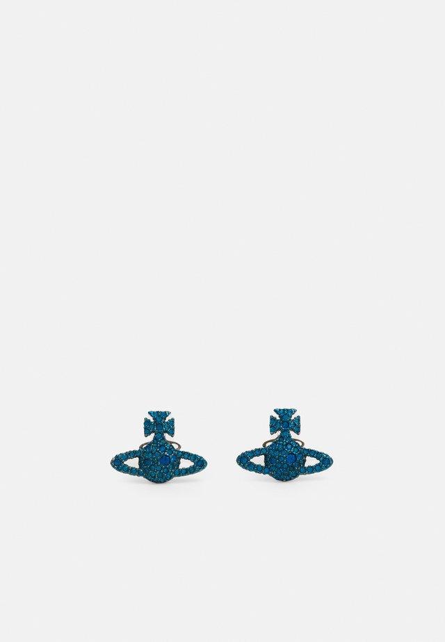 GRACE BAS RELIEF STUD EARRINGS - Orecchini - capri blue