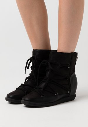 SALIA - Wedge Ankle Boots - noir