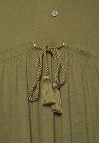 Anna Field - BASIC JERSEYKLEID - Jersey dress - olive night - 5
