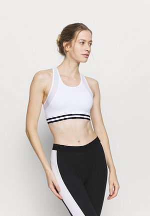 Medium support sports bra - white
