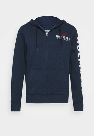 TECH LOGO UPDATE - Zip-up hoodie - navy