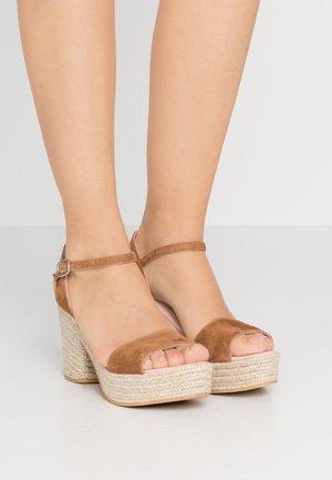 ANGELIS - Sandály na vysokém podpatku - natural