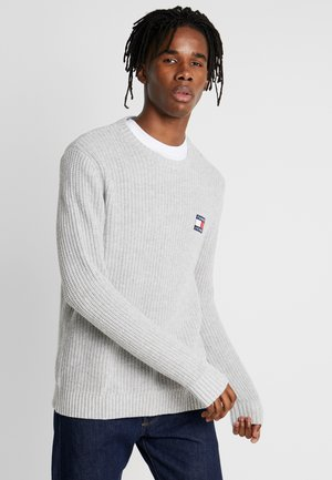 BADGE SWEATER - Jumper - light grey
