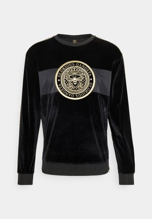 HERVAS CREW - Sweatshirt - black /gold