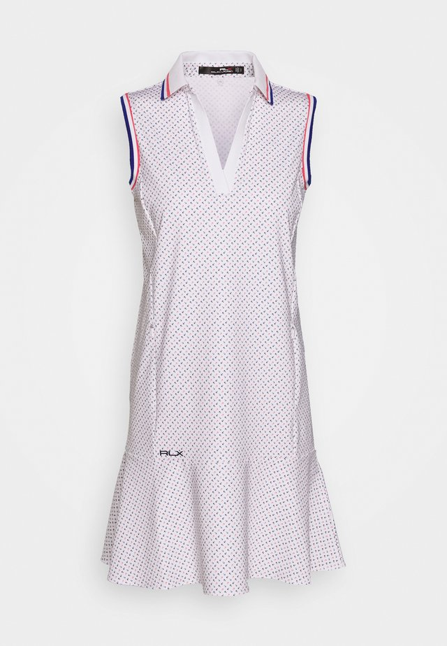 PRINT SLEEVELESS CASUAL DRESS - Vestido de deporte - white