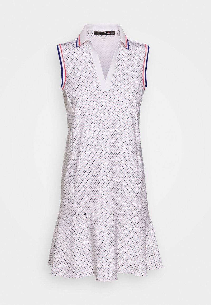 Polo Ralph Lauren Golf - PRINT SLEEVELESS CASUAL DRESS - Sports dress - white
