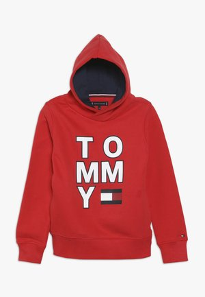 MULTI GRAPHIC HOODIE - Hoodie - red