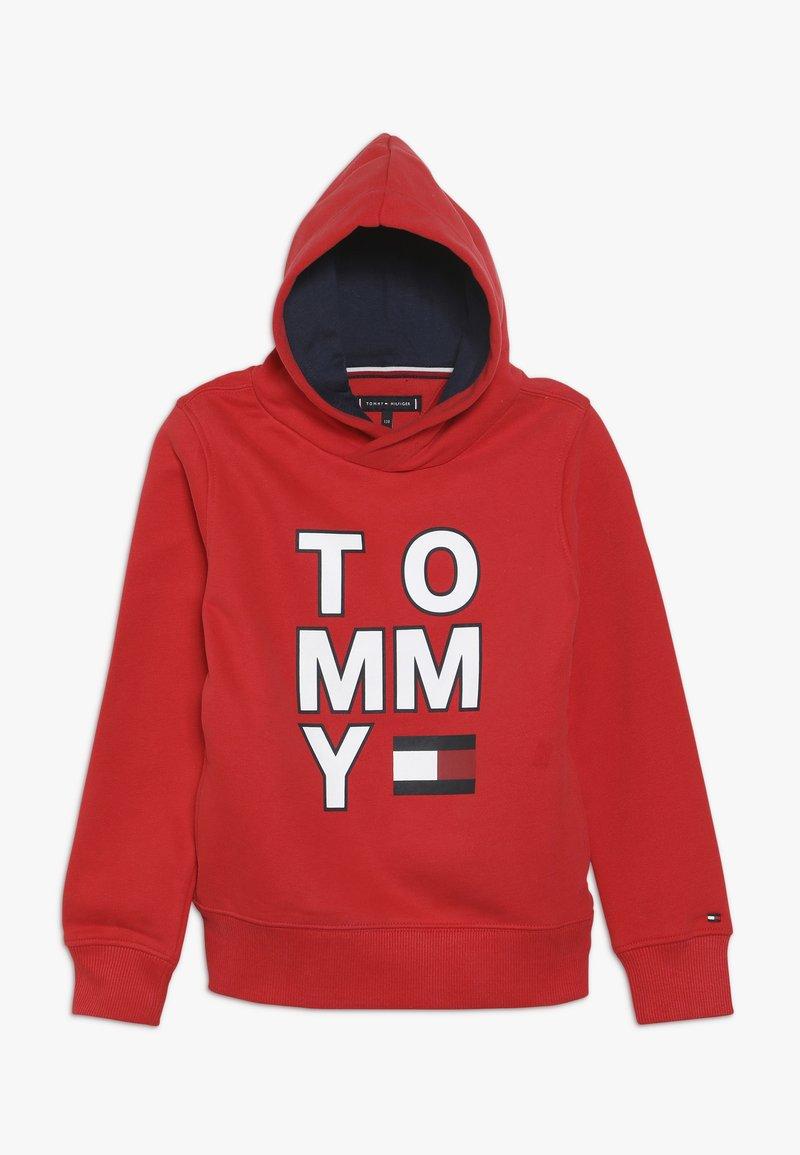 Tommy Hilfiger - MULTI GRAPHIC HOODIE - Bluza z kapturem - red