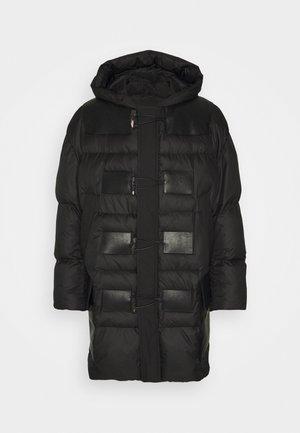 PADDED DUFFLE COAT - Winter coat - black/black