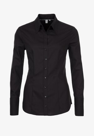 SCHWARZE ROSE - Button-down blouse - black