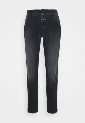 PEDAL QUEEN - Straight leg jeans - dark grey