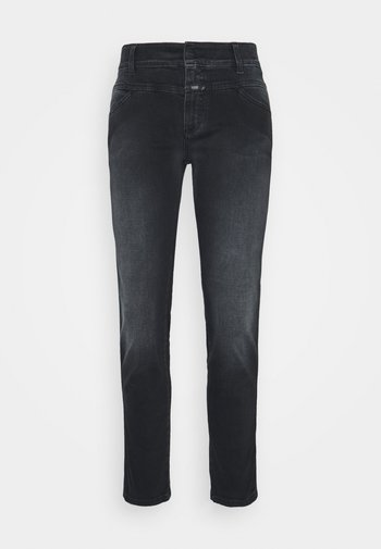 PEDAL QUEEN - Straight leg jeans - dark grey