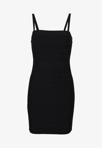 CONVERTIBLE STRAP ICON - Robe fourreau - black