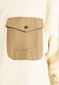 H2O Fagerholt - CHECKET PILE JACKET - Zimní kabát - beige - 5