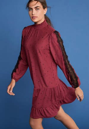 HIGH NECK LACE  - Tunic - pink