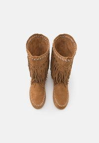 Colors of California - MEDIUM BOOT WITH FRINGES - Cowboy-/Bikerlaarzen - tan - 5