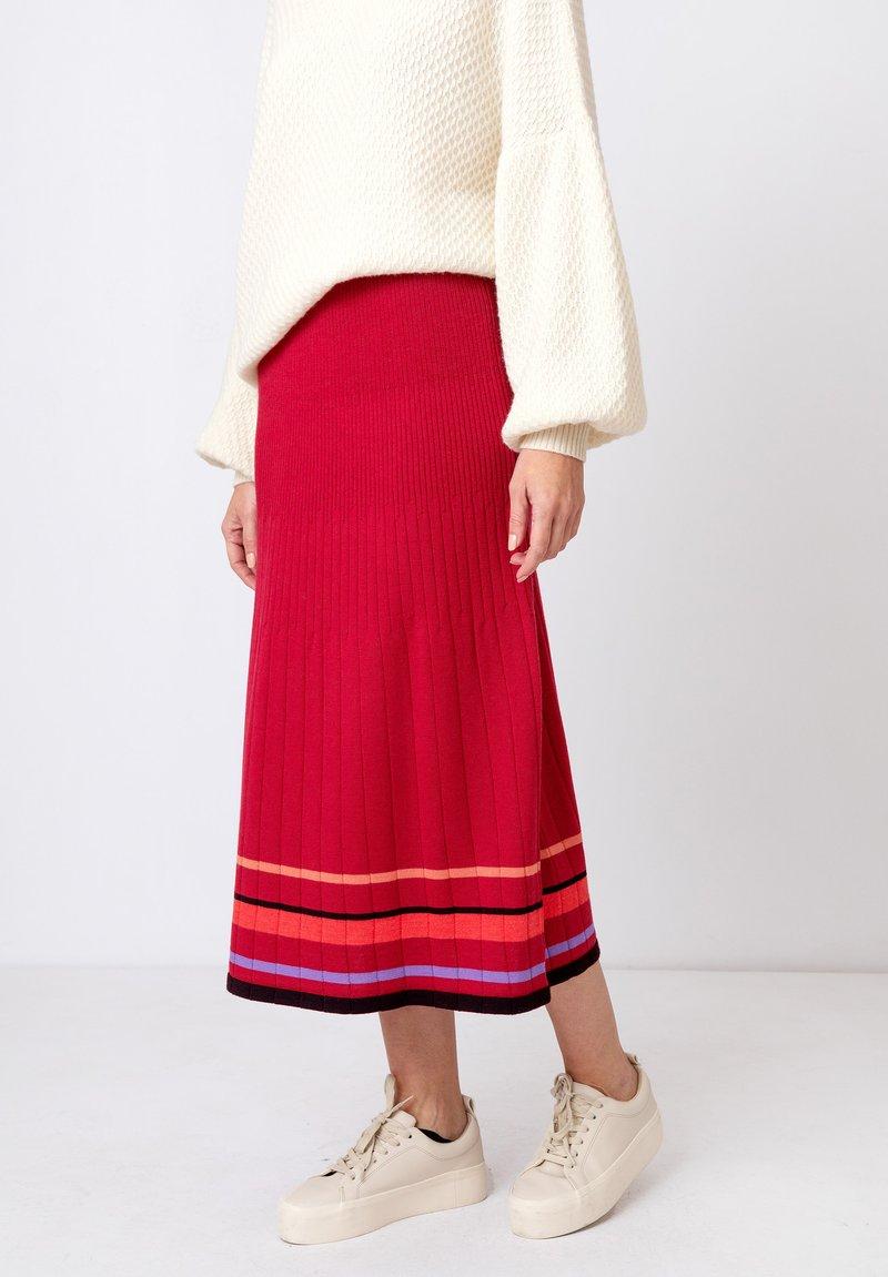 Ivko - Áčková sukně - rosewood