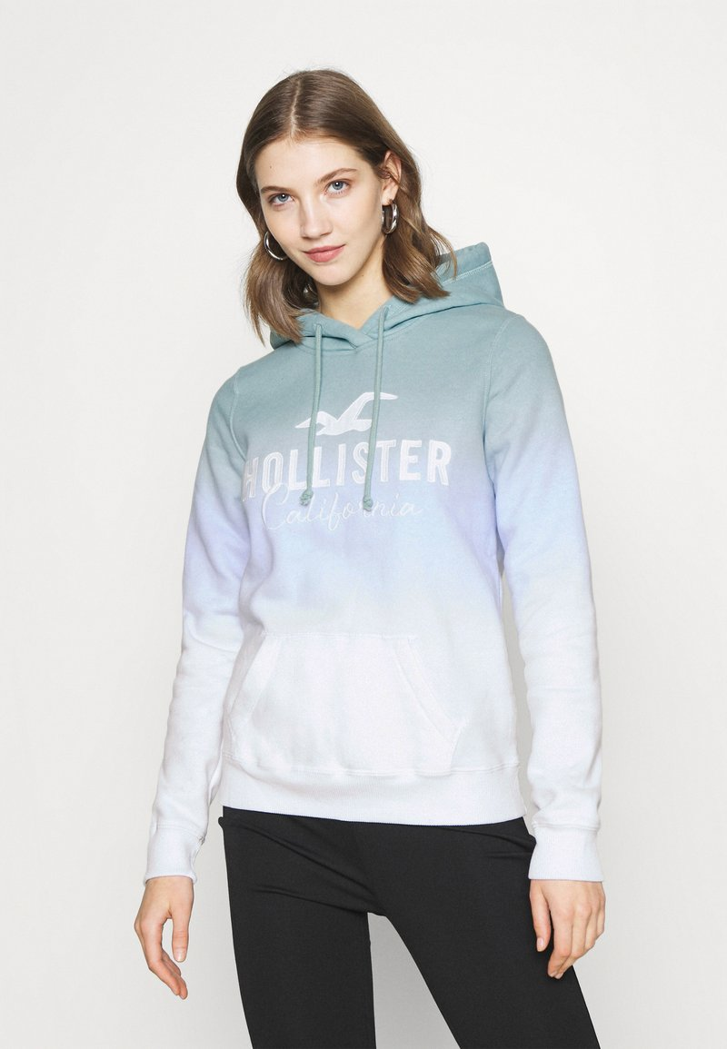 Hollister Co. - CHAIN TECH CORE - Mikina skapucí - blue wash