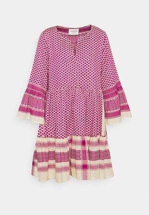JULIA - Day dress - birch/fuchsia