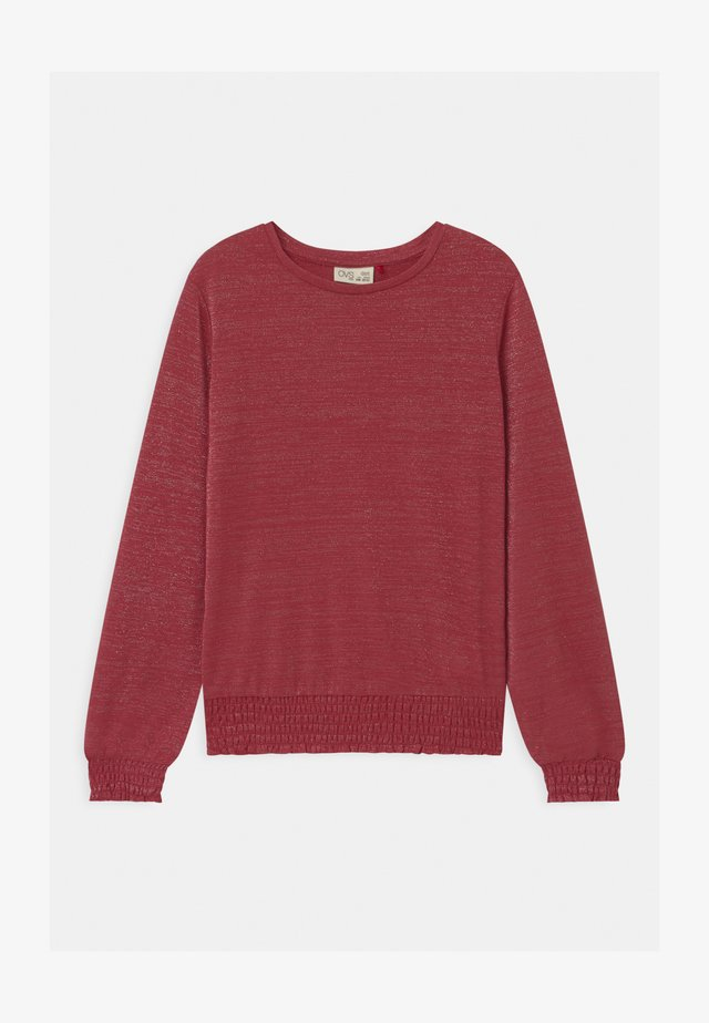 Long sleeved top - earth red